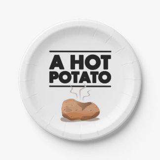 Hot Potato Paper Plate