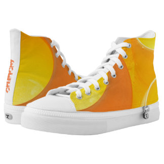 Hot Pottery Kiln - Golden oranges and yellows High-Top Sneakers