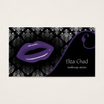 hot purple Makeup artist Business Cards