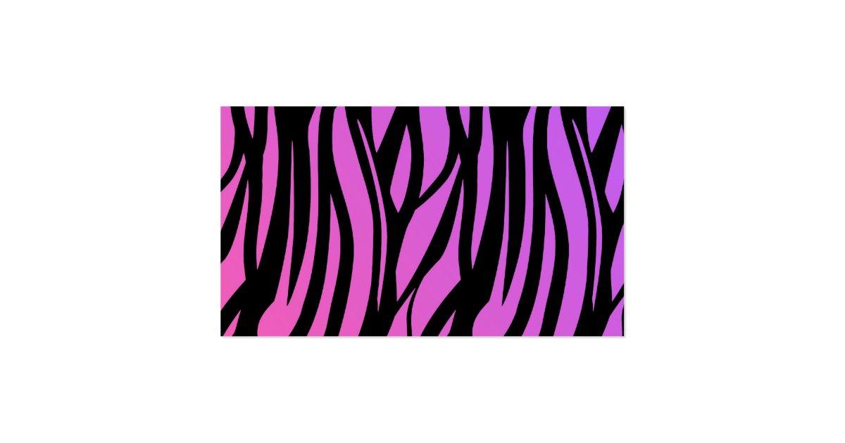 Pink and purple zebra stripes
