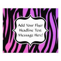 Hot Purple/Pink Zebra Stripes Monogram Flyer
