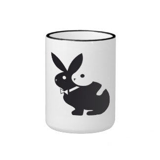hot rabbit ringer coffee mug