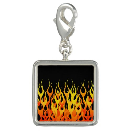 Hot Racing Flames Graphic Charm
