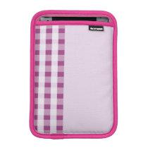 hot raspberry stripes pattern ipad mini sleeve