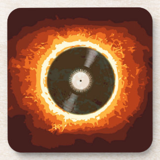 Hot Record Beverage Coaster
