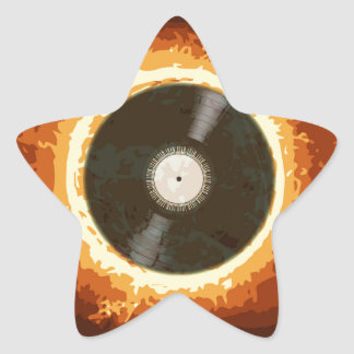 Hot Record Star Sticker
