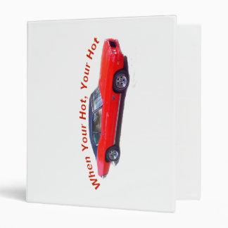 Hot red car  ring binder