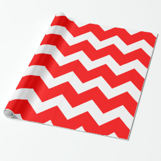 Hot Red Chevron Wrapping Paper