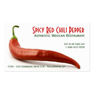 Hot Red Chili Pepper Business Card Template