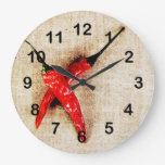 hot red chili peppers clock
