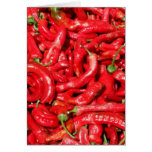 Hot Red Chili Peppers Outdoors in the Summer Sun Card