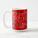 Hot Red Chili Peppers Outdoors in the Summer Sun Coffee Mug