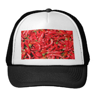 Hot Red Chili Peppers Outdoors in the Summer Sun Trucker Hats