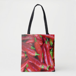 Hot Red Chili Peppers Vegetable Tote Bag