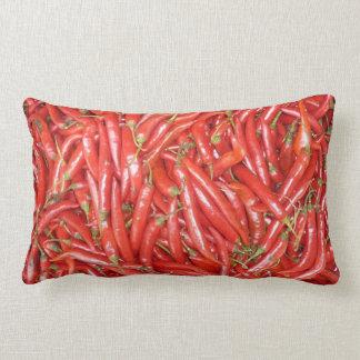 hot red chillies lumbar pillow