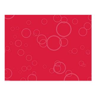 Hot Red Circle Bubbles Postcard