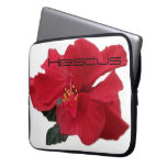 Hot Red Hibiscus Computer Sleeves