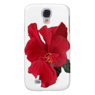 Hot Red Hibiscus Galaxy S4 Cover