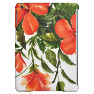 Hot Red Hibiscus iPad Air Cover