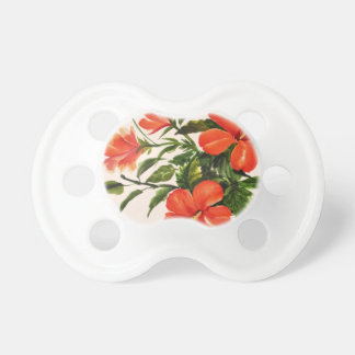 Hot Red Hibiscus Pacifier