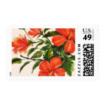 Hot Red Hibiscus Postage Stamp