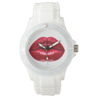 Hot Red Lips Beauty Wrist Watch