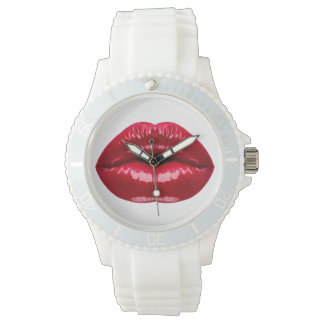 Hot Red Lips Beauty Wristwatch