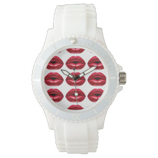 Hot Red Lips Beauty Wristwatches