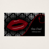 hot red Makeup artist Business Cards