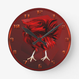 Hot Red Rooster Wallclock