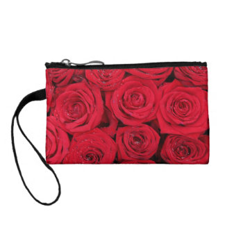 Hot red roses by Therosegarden Coin Wallet