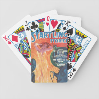 Hot Redhead Bicycle Playing Cards