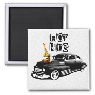 Hot Ride 2 Inch Square Magnet