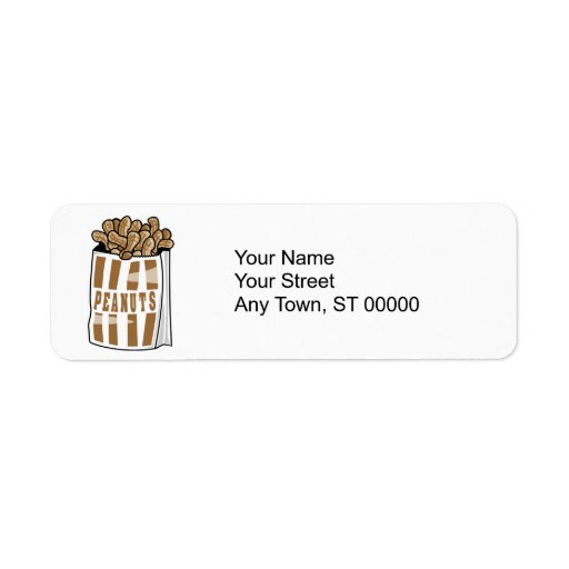 hot roasted peanuts custom return address labels