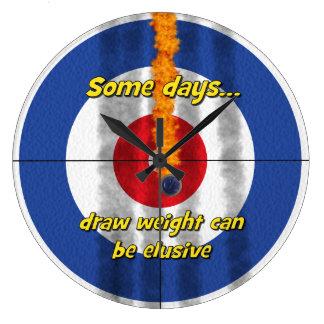 Hot Rocks 'draw weight' Curler's Clock - (Blue)