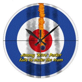 Hot Rocks 'Nitro' Curler's Clock - Blue