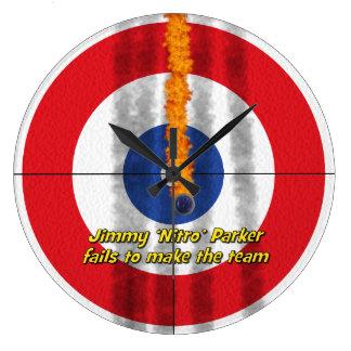 Hot Rocks 'Nitro' Curler's Clock - Red
