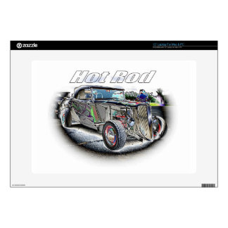 "Hot Rod 15"" Laptop Decal"