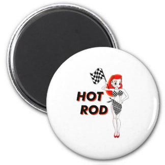 Hot Rod 2 Inch Round Magnet