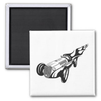 Hot Rod 2 Inch Square Magnet