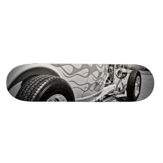 Hot Rod 6 Black andWhite Flame Job  Deck