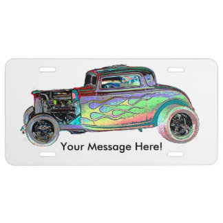 Hot Rod Add Message Personal License Plate