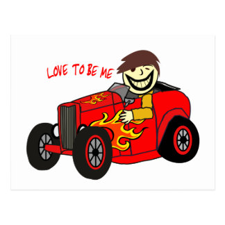 HOT ROD AND GUY - LOVE TO BE ME.png Postcard