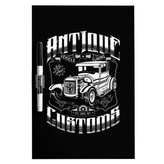 Hot Rod - Antique Customs (white) Dry-Erase Board