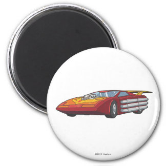 Hot Rod Car Mode 2 Inch Round Magnet
