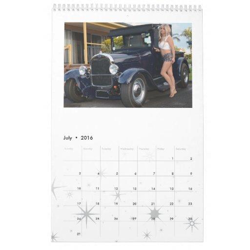 Hot Rod Cars Calendar