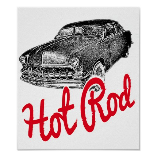 Hot Rod cars Print