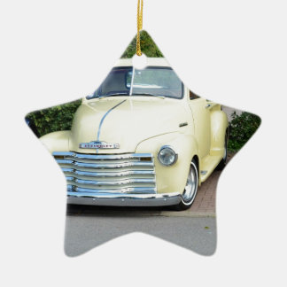Hot Rod Chevrolet Pickup. Double-Sided Star Ceramic Christmas Ornament