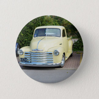 Hot Rod Chevrolet Pickup. Pinback Button