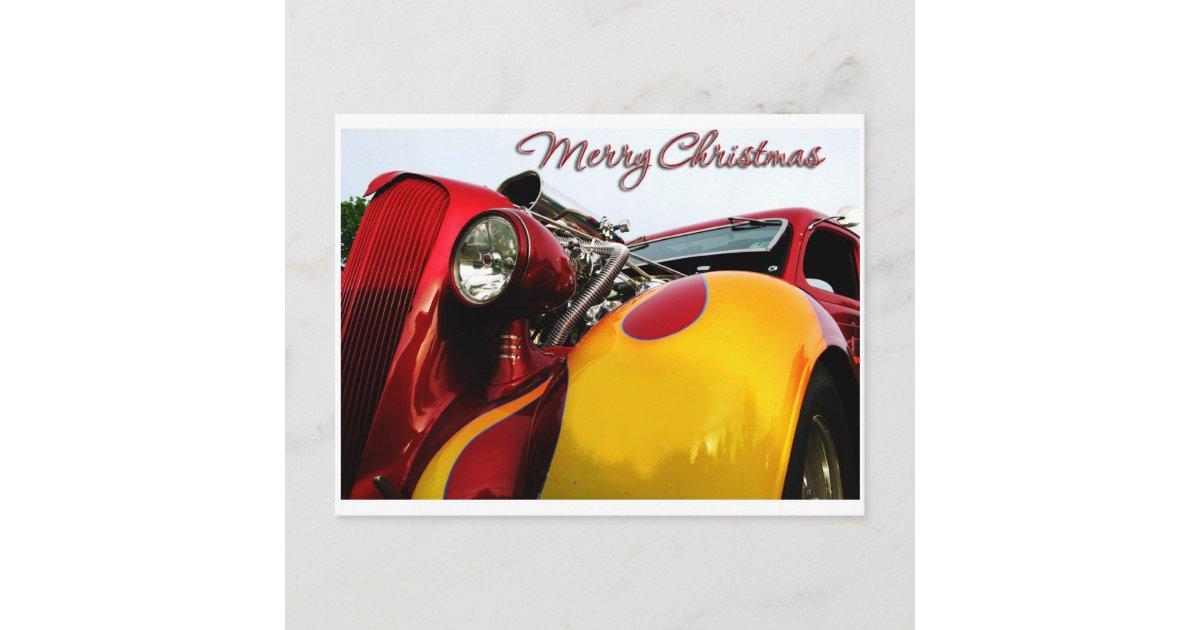 Hot Rod Christmas Card | Zazzle.com